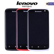 Lenovo S820 Дисплей S820t Оригинальный Новый Черные, белые, красные Lenovo S820 ЖК-дисплей Дисплей Сенсорный экран планшета Ассамблеи с Рамка