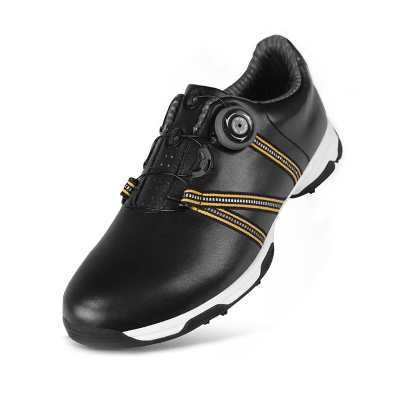 Обувь для гольфа Для мужчин PGM Водонепроницаемый кожаная спортивная обувь для человека дышащий гольф спортивная обувь противоскольжения т...