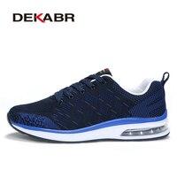 DEKABR 남성 운동화 실행 신발 에어 쿠션 훈련 통기성 메쉬 스포츠 신발 조깅 신발 산책 육상 신발