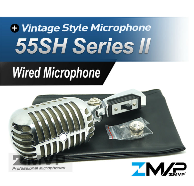 Free Shipping! HQ Export Version 55SH II Dynamic Microphone Vocal 55SH2 Classical Vintage Style Microfone 55SH Series II Mic  free shipping high quality version sm 58 58lc sm58lc wired vocal karaoke handheld dynamic microphone microfone microfono mic