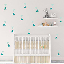 70pcs Colorful triangles Art Wall Decal For Kids Room Nursery Decoration Diy Drawn Pattern Vinyl Sticker Modern Home Decor
