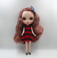 Blyth doll small, brown, white, small, curly, naked baby doll with a body 7 joint DIY doll 1/6 can change the body fashion doll