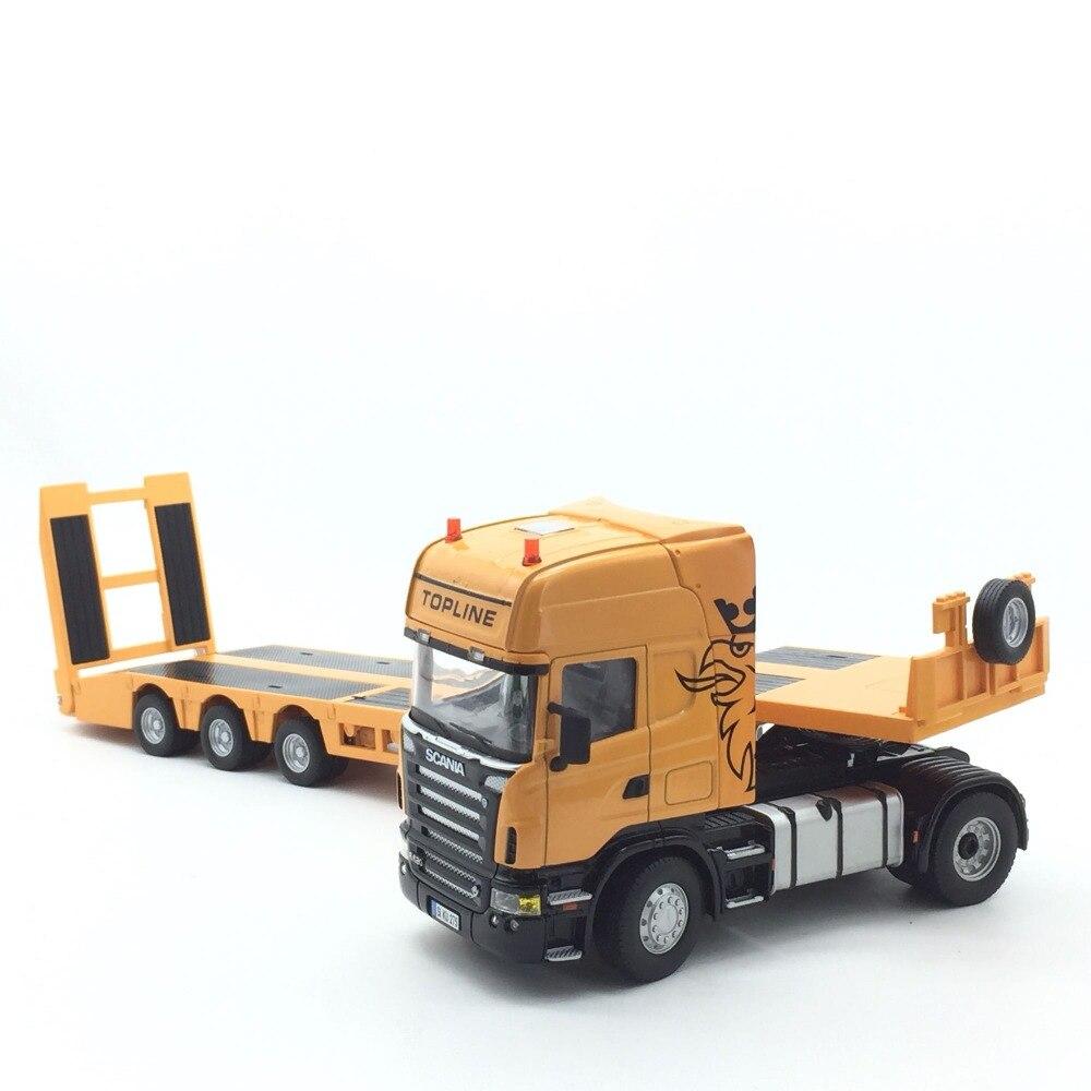 1:32 modèle de voiture pour Scania lourd à plat camion remorque en alliage jouet voiture modèle longueur 61 cm