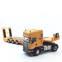 1:32 model car for Scania Heavy Flatbed Trailer Alloy toy Car Model Length 61cm