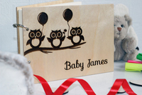 Personalised Baby Book Baby Boy Gift Baby Shower Guest Book Cute Owl