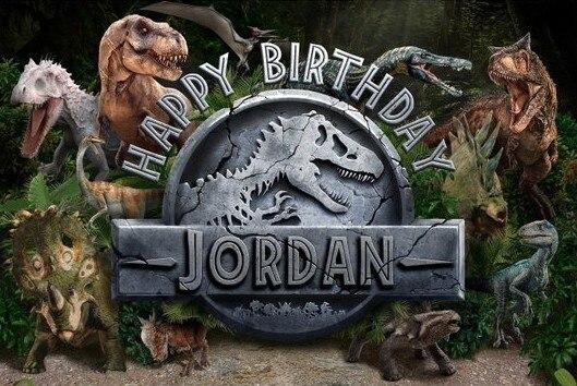 Custom Jurassic park World Dinosaur Birthday photography studio background High quality Computer print party backdrops