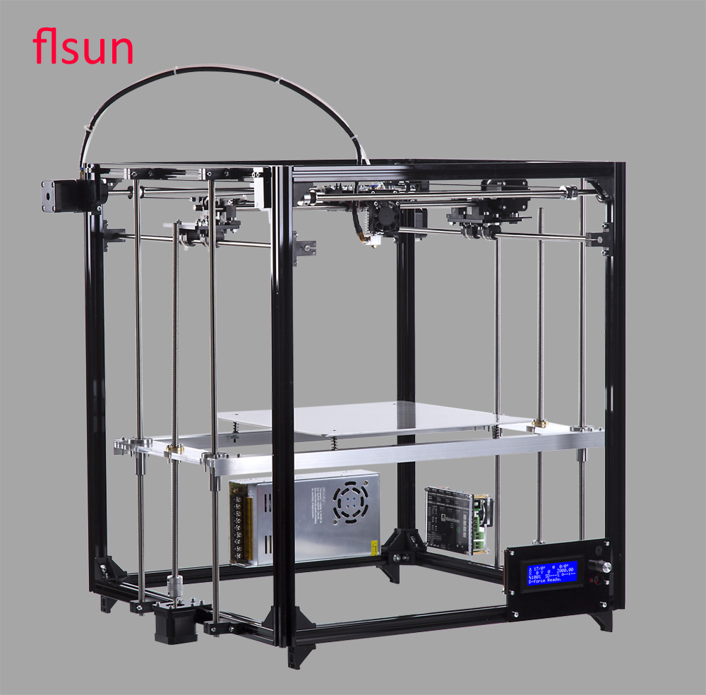 Aluminum Structrue 3d printer Machine Build Size 260*260*350mm DIY 3d Printer Heated Bed With Two Rolls Filament SD Card 2016 new 3d color printer kits large size 3dprinter with filament 2gb sd card