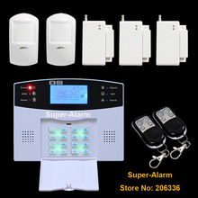 106 Зон Обороны Беспроводной и Проводной ЖК GSM Сигнализация Охранной Сигнализации Системы