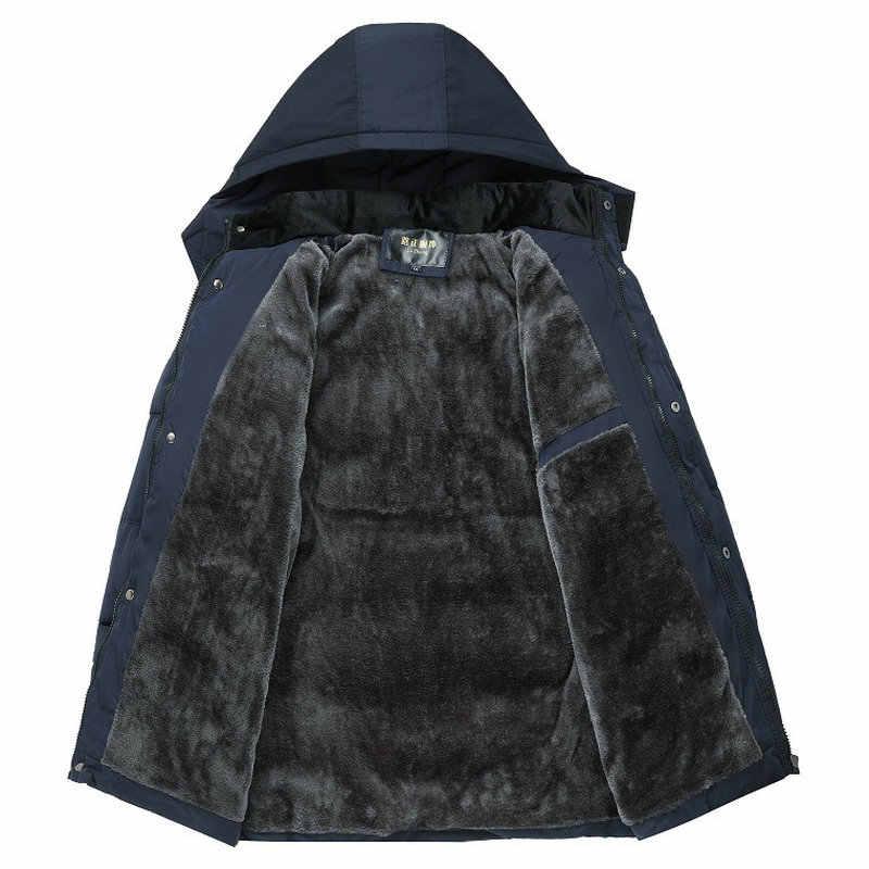 新しい冬のジャケットの男性の 20 度厚く男性パーカーフード付きコートフリース男のジャケット生き抜く Jaqueta Masculina