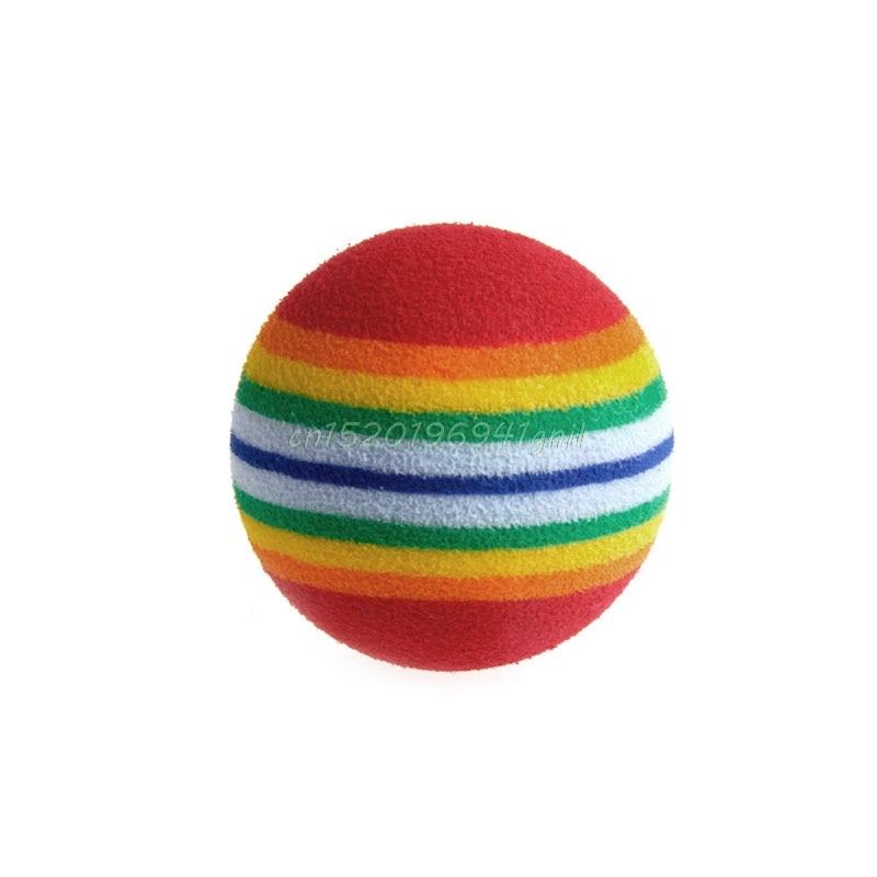 Kleurrijke Pet Rainbow Foam Fetch Ballen Training Interactieve Hond Kat Grappige Speelgoed # T025 # Goed Voor Antipyretische En Keel Fopspeen