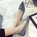 Fashion star style flat dipper shoes pointed toe paillette flat women's four seasons shoes 2015 single shoes