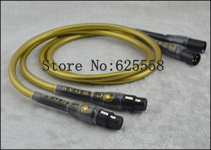 Cardas HEXLINK GOLDEN 5-C XLR Balance  interconnect cable 1m free shipping cardas clear light interconnect cable xlr to xlr connector plug
