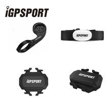 IGPSPORT Bicicleta Computador ANT+ HR35 Monitor de Freqüência Cardíaca Cadência Sensor De Velocidade Sem Fio Bluetooth 4.0 GPS Da Bicicleta Velocímetro Acessórios Sem Fio