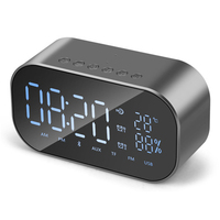 Portable Bluetooth Wireless Speakers Alarm Clock Stereo Subwoofer Boombox Support Temperature LCD Display For xiaomi dj speaker
