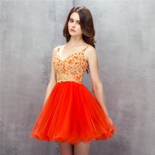 Red Short Prom Dresses 2019 Appliques Lace Vestidos De Festa Ball Gown Homecoming Party Dress Gala Sexy Mini Silver Prom Dress