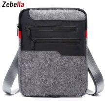 1924a333c7d4 Zebella Повседневное мужская сумка Messenger для iPad портфель нейлон  путешествия Бизнес Портфели груди пакет сумочку Sacoche