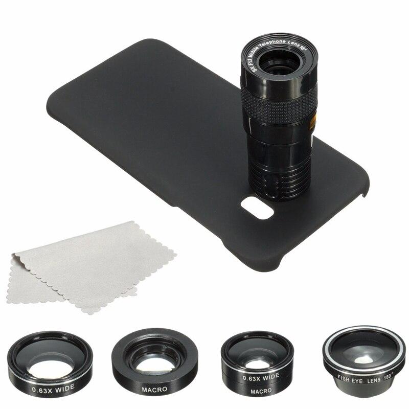 Цена за 4 In1 9X Зум Телефото Макро Мобильного Телефона Объектива Камеры Fisheye Широкоугольный Объектив Комплект Чехол Для Samsung Для Galaxy S7 Edge