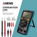 Aneng M10 AN8001 Draagbare Lcd Digitale Multimeter 6000 Telt Backlight Ac/Dc Amperemeter Voltmeter Ohm Meter 16-In-1combination Lijn