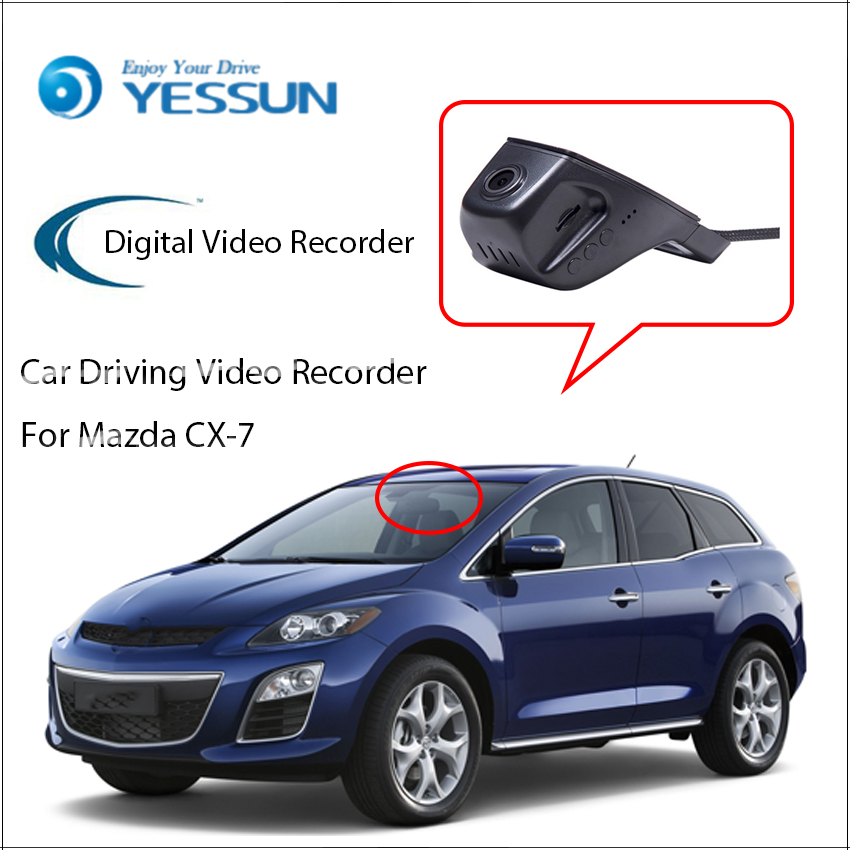YESSUN pentru modelul Mazda CX-7 Camera frontală Dash nu este - Electronică Auto