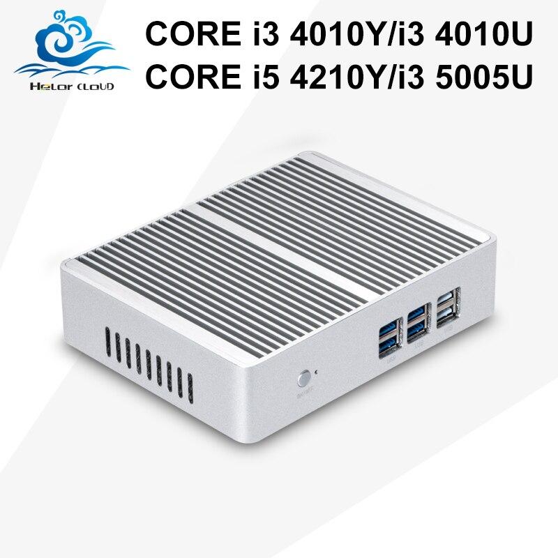 Core i3 Computadora de escritorio HTPC 5005U 4010U i5 Mini Pc TV de la caja 500G