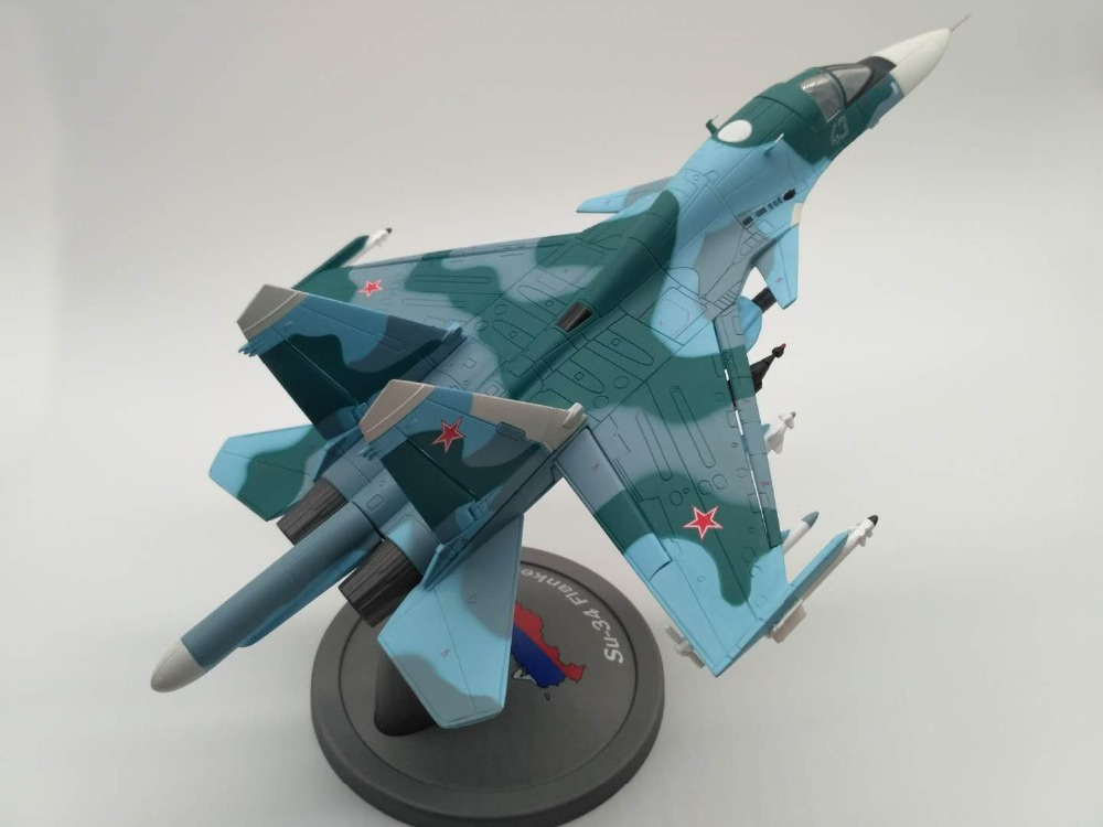 1 72 Scale Fighter Model Toys Russia SU 34 Flanker Combat Aircraft Diecast Metal Plane Model