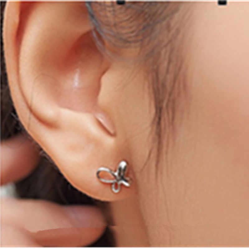 Boucles d'oreilles papillon 2018 mode chute feuille d'argent boucles d'oreilles papillon 925 boucles d'oreilles Style bohème Unique boucles d'oreilles mme