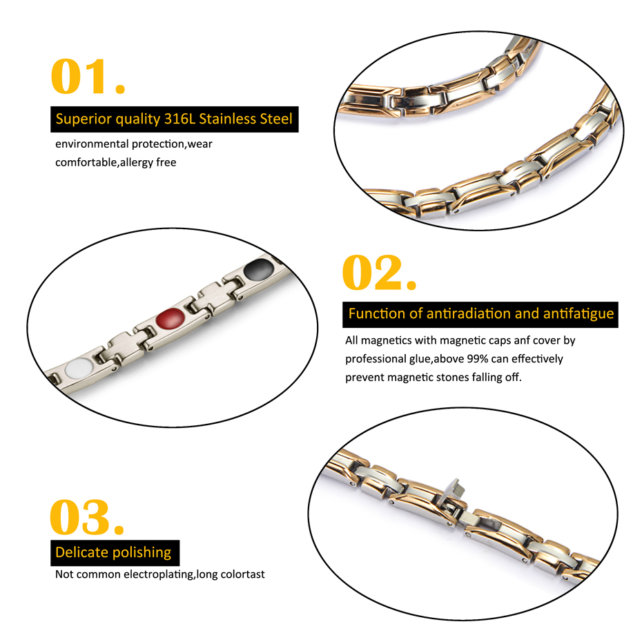 HTB1RD DepzqK1RjSZFCq6zbxVXaE - Necklace Bracelet Sets for Women Bio Energy  Fashion Magnetic Therapy