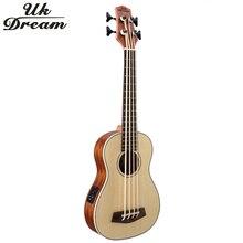 Дюймов 30 дюймов деревянный Electrica бас гитара 4 струны Гавайские гитары укулеле Музыкальные инструменты Professional Picea Asperata U бас укулеле UB-513