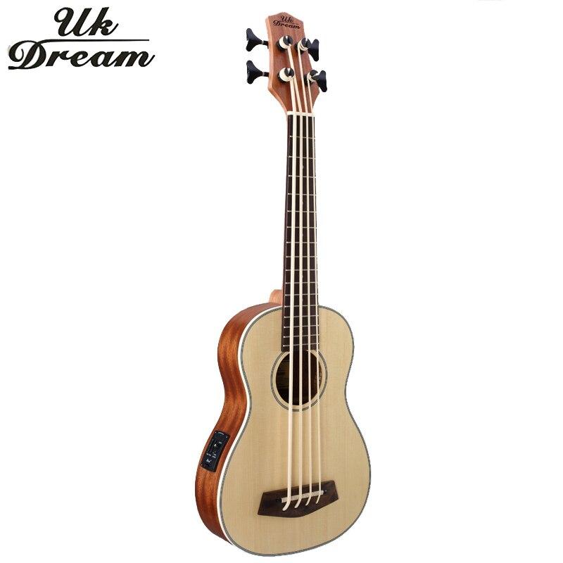 30 pollice di Legno Electrica Bass Guitar 4 corde Ukulele Strumenti Musicali Professionale Picea Asperata U Basso ukulele UB-513