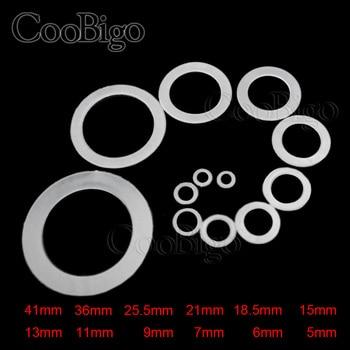 100 Uds de plástico transparente arandela de nylon taco espaciador arandela de lavadora anillos ojales O-anillo plano 12 DE TAMAÑO M5 ~ M41