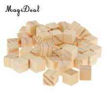MagiDeal High Quality 50Pcs Wooden Square Tiles for Crafts Wood Family Fun Board Games Great Crafting Accessory Children Gifts