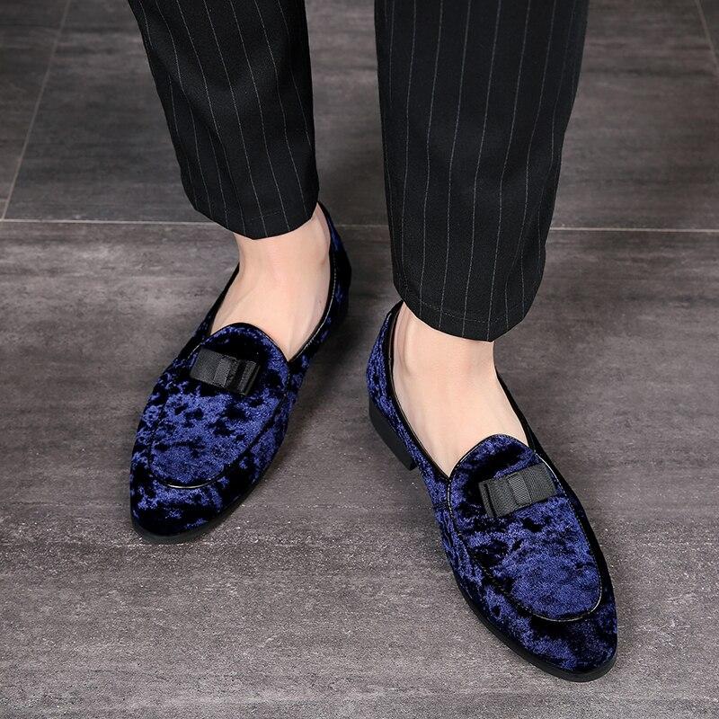 2019 Homens Vestido De Noiva Masculino Flats Mocassins