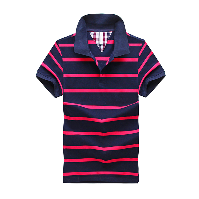 Polo Summer New Men's Striped Polo Shirt Brand Of High Quality 100% Cotton Men's Short Sleeved Polo Shirt Sportsman Tee