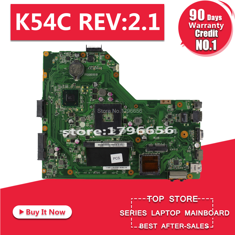 For <font><b>ASUS</b></font> K54C <font><b>X54C</b></font> Laptop <font><b>Motherboard</b></font> K54C REV:2.1 100% Tested Fast Ship HM65 PGA989 USB3.0 DDR3 with 4GB RAM image