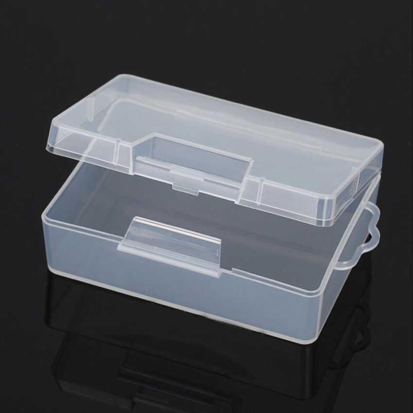 สี่เหลี่ยมผืนผ้าพลาสติกใสเก็บอิเล็กทรอนิกส์อะไหล่สกรูกล่องลูกปัดคอลเลกชันคอนเทนเนอร์คอนเทนเนอร์