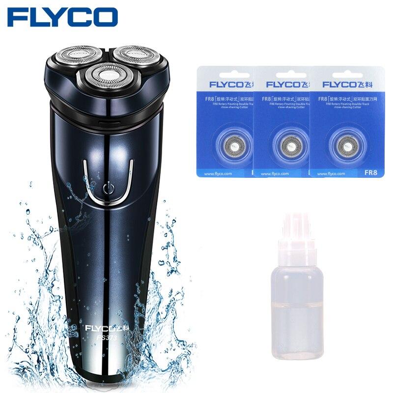 Flyco Shaver Electric Men's Razor Rechargeable Maszynka Do Golenia Elektryczna Body Shaver Father's Day Gift FS373-B Cutter Head