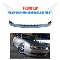 Unpainted V Style PU Auto Car Front Bumper Lip Chin Spoiler Fit For Volkswagon VW Golf 4 MK4 Standard 1998 2004 Non GTI