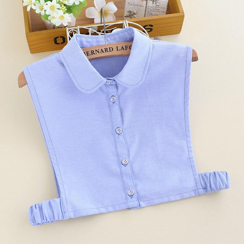 YSMILE Y Fashion Women Solid Fake Collar Light Blue Remove Detachable Collar High Quality All Match Decorative Collar For Female