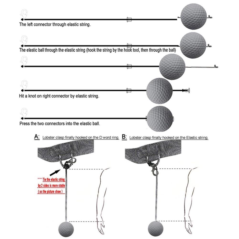 Accesorii de exercițiu pentru boxe cu minge reflexă de box, luptă - Fitness și culturism - Fotografie 5