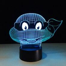 Hot sale Ninja Turtles Colorful gradient font b 3D b font night font b light b