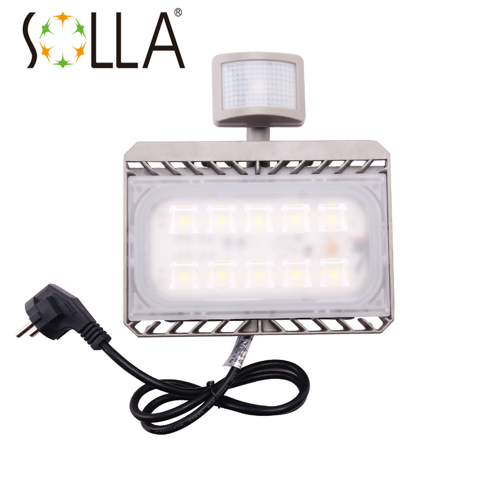 Cree LED Flood Light Motion Sensor 50W 110V 220V led Sensor Light Outdoor Lighting Waterproof IP65 PIR Floodlight Spotlight ultrathin led flood light 200w ac85 265v waterproof ip65 floodlight spotlight outdoor lighting free shipping