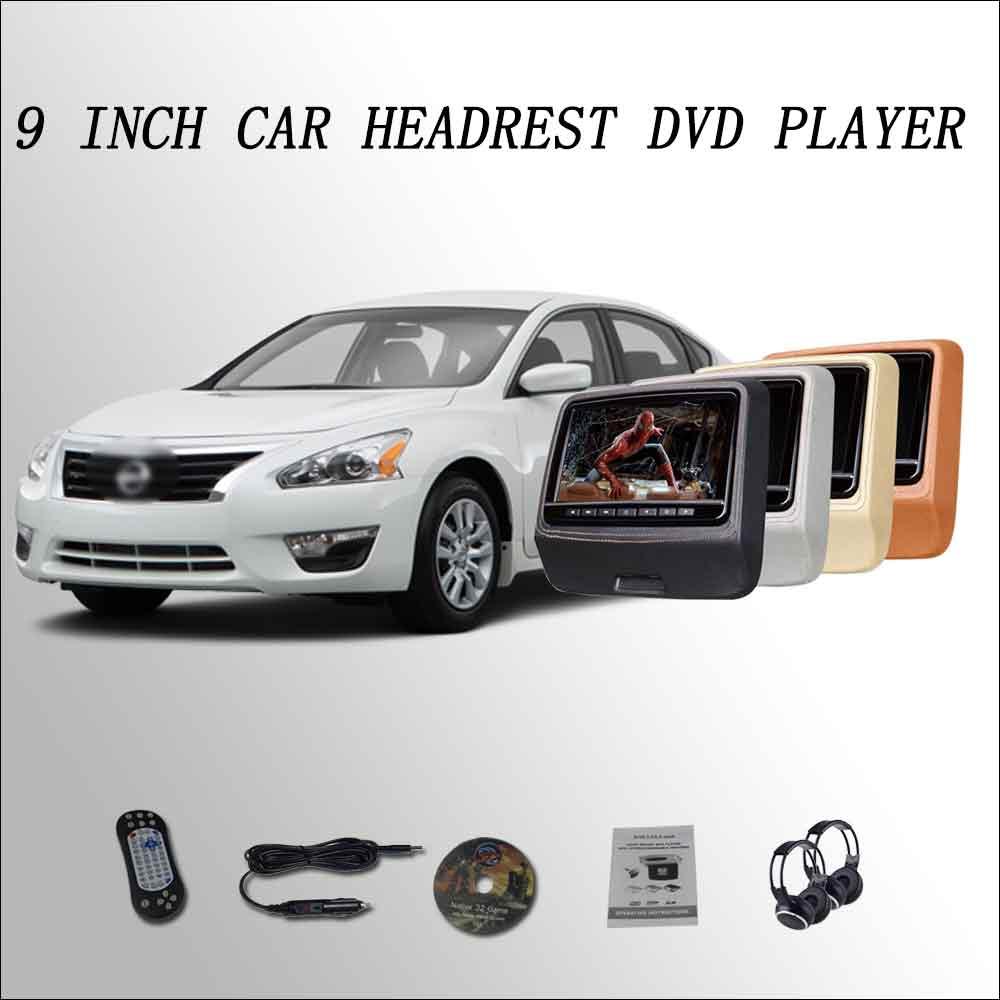 BigBigRoad Car Headrest Monitor digital LCD screen 2*9 DVD player with USB / SD / IR / FM SPEAKER GAME HDMI  For Nissan Altima