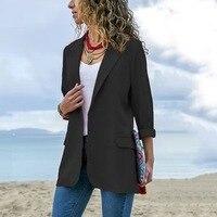 Slim Blazers Women Autumn Suit Jacket Female Work Office Lady Suit Black Business Blue Blazer Coat Fashion Plus Size 4xl 5xl