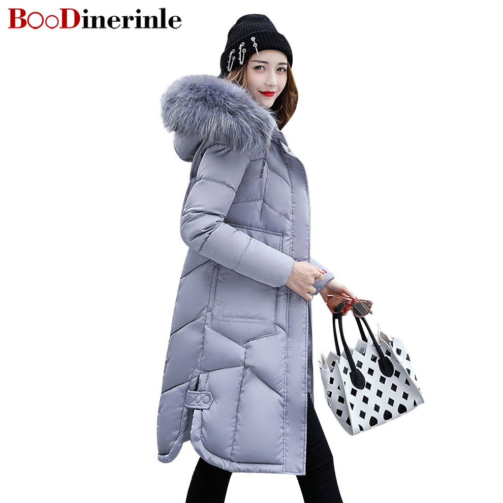 BOoDinerinle Plus size Women coat Thick cotton fashion winter removable large hair collar section parkas mujer invierno MY017 new control relay cad series cad32 cad32sdc cad 32sdc 72v dc