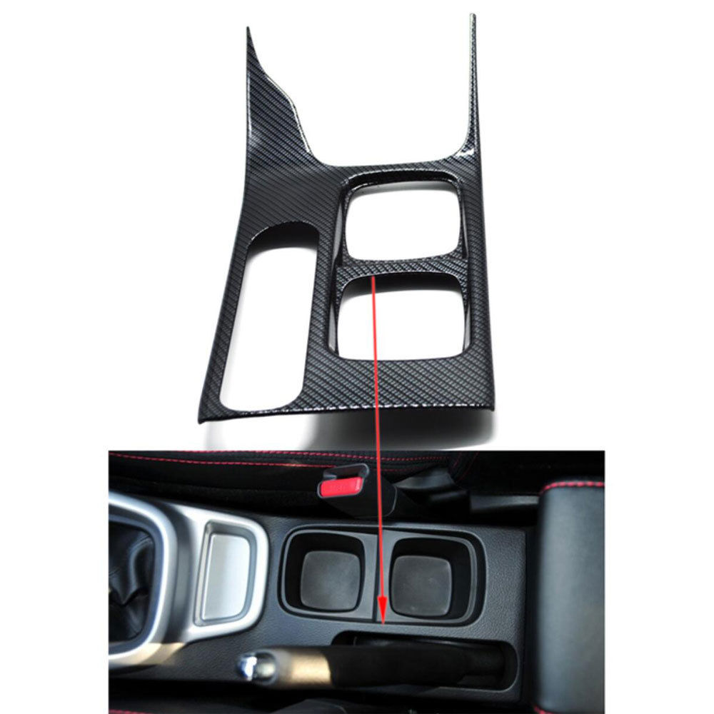 Auto Car Styling Inner Carbon Fiber Water Cup Holder Panel Cover Gear shift Trim Frame Sticker Fit For Suzuki Vitara Escudo 2016 for nissan r35 gtr carbon fiber door mirror inner panel trinagle