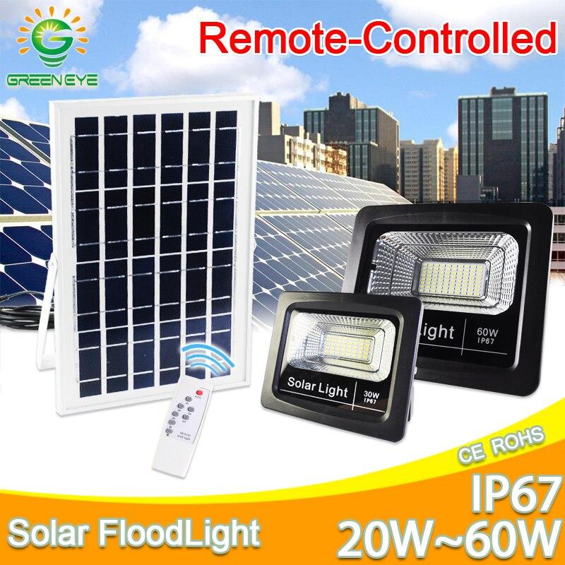 led flood light Remote Sensor refletor solar floodlight 20W 30W 50W 60W RGB IP65 led solar light Waterproof led light outdoor|Floodlights| |  - title=