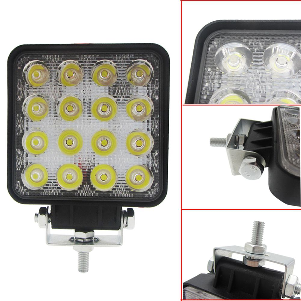 Waterproof, Dust Proof 48W 6000k LED Spot Beam Square Work Lights Lamp Tractor SUV Truck 4WD 12V 24V Drop Shopping