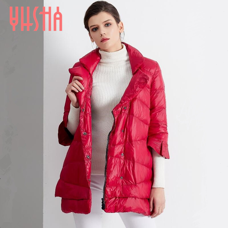 Women's Winter Jacket 2017 New Temperament Fashion Cloak Loose parka women down winter coat Warm Jacket Female Overcoat