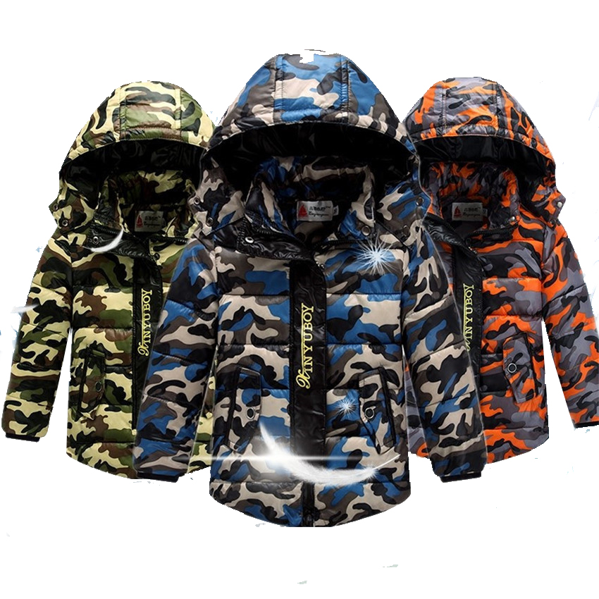 (KID STATION) Camo  80%WDD Winter Down Coat Baby Outwear Wind Proof Warm Coat Jacket Boy kids Clothes 4-12 yrs(KID STATION) Camo  80%WDD Winter Down Coat Baby Outwear Wind Proof Warm Coat Jacket Boy kids Clothes 4-12 yrs