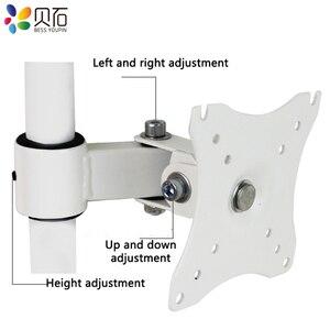 "Image 5 - Escritorio 14 27 ""LCD Monitor LED brazo de movimiento completo montaje en poste brazo Monitor LCD TV abrazadera montaje carga máxima 6,5 kg"